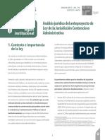 Análisis Jurídico Del Anteproyecto de Jurisdicción