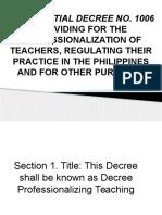 Presidential Decree No. 1006