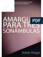 AMARGURA PARA TRES SONÁMBULAS