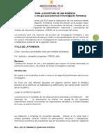 Ejemplo de Ponencia en Investigacion