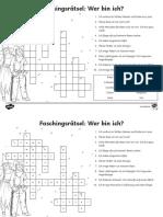 De2 t 17 Faschingskostume Ratsel Erstes Lesen Arbeitsblatt