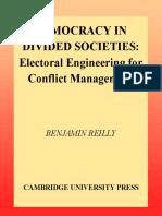 LIVRO - DEMOCRACY IN DIVIDED SOCIETIES [Benjamin_Reilly].pdf