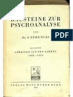 Ferenczi Bausteine Zur Psychoanalyse III Text