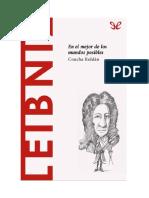 Roldan Panadero Concha - Descubrir La Filosofia 29 - Leibniz - En El Mejor de Los Mundos Posibles