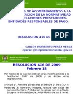 Resolucion 416 de 2009