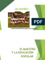 El Maestro y La Educacion Popular r Valdeavellano