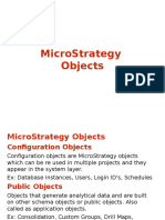 Microstrategy Objects