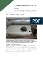 DIY Impresora 3D Alta Resolución DLP