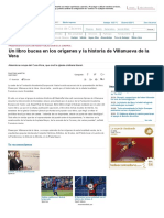 Un libro bucea en los orígenes y la historia de Villanueva de la Vera - Provincia de Cáceres - El Periódico Extremadura