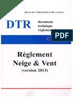 DTR C 2-47 Règlement Naige Et Vent