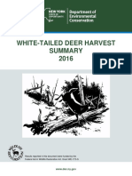 2016 New York Deer Harvest report