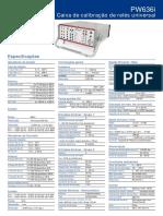 PW636i - Especificações Técnicas
