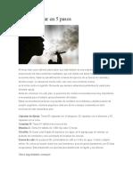 Deje de Fumar en 5 Pasos