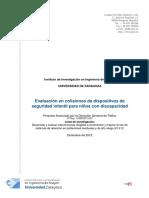 0100dgt21367 Evaluacion en Colisiones de Dispositivos de Seguridad Infantil Para Ninos Con Discapacidad INFORME PARA WEB