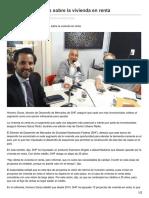 16/Mayo/2017 En Aumento Interés Sobre La Vivienda en Renta