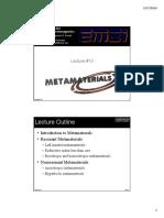 Lecture 13 -- Metamaterials