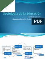 1 Sociologia de La Educacion - Presentaciond e La Materia
