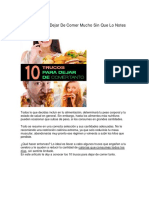 10 Trucos Para Dejar de Comer Mucho Sin Que Lo Notes