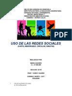 Uso de Las Redes Sociales - Maria Guanipa