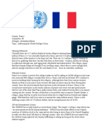 France Alexandra Position Paper