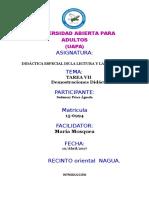 Didactica Especial de La Lectura y La Escritura Sudanery Perez Agueda