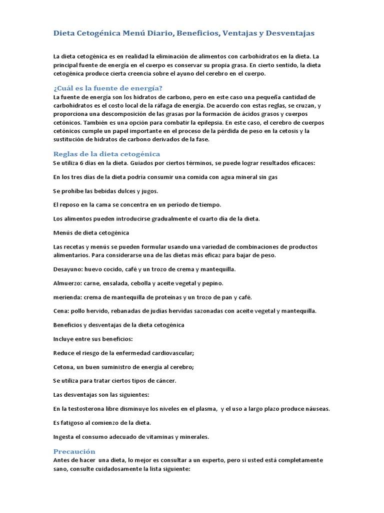 Dieta Cetogénica Menú Diario, Beneficios, Ventajas y..