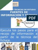 Tema 13 Fuentes de Información y Tecnica Del Fichaje