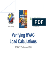 Verifying HVAC Load Calculations 2-28-13