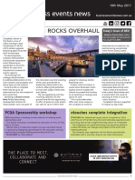 Business Events News for Thu 18 May 2017 - Event plan in Rocks overhaul, Luxperience to stay at ATP, etouches complete integration, and more.
