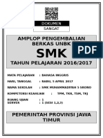 Cover Amplop Besar Ljk Un 2017