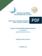 Ensayo SI HARRY POTTER DIRIGIERA GENERAL ELECTRICS