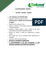 Manual Serra Eletrica 18 2200w Es22002 Tekna 220v