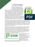 La Historia de Excel