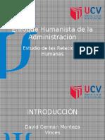 Enfoque Humanista de La Administración TEMA 2