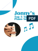 Piano Success Booklet Jonny s Top 5 Tips