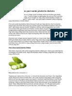 Cara Membuat Jus Pare Untuk Penderita Diabetes