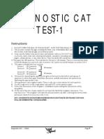 Diagnostic CAT 1 CAREER LAUNCHER