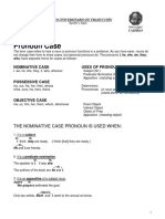 207 Pronoun Case LGI II