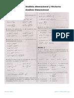Ejercicios de Análisis dimensional y Vectores