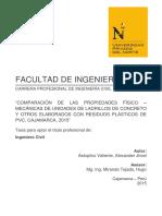 Comparacion de Las Propiedades Fisico Mecanicas de Unidades de Ladrillos de Concreto y Otros Elaborados Con Resiudos Plasticos de Pvc