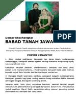 Damar Shashangka-babad Tanah Jawa