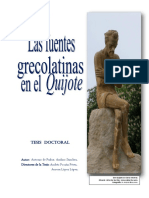 Las Fuentes Grecolatinas Del Quijote