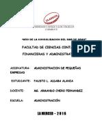 Actividad Colaborativa II UNIDAD_adm. de Pequeñas Empresas_fausto_uladech