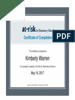 certificateofcompletion 123 kimberlywarren