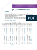 Interchange Fourth Edition Class Audio