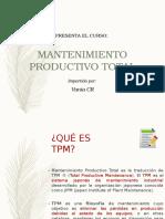 Curso Total Production Maintenance (TPM)