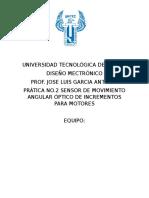 REPORTE PRACTICA NO.2 DISEÑO MECATRONICO UNITEC