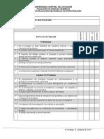 Escala de Valoración Del Informe Pregrado