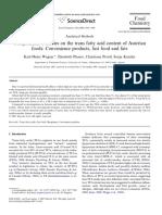 Trans Fatty Acid Content of Austrian Foods 2008-ESTE [1393591]