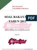 Soal Rekayasa 2012